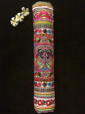 Yoga Mat Bag - Embroidered and handmade by Thai Hill Tribe (Carnival)