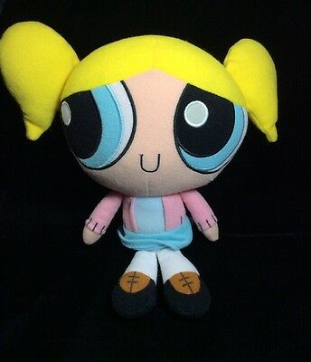 "Power Puff Girls Bubbles Plush Cartoon Network Trendmasters 9""  Pink Sweater"