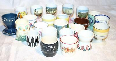 Selection of 23 Vintage  Egg Cups including Royal Doulton, Mason's
