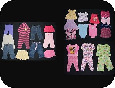 26 piece Baby Girl size 12 months spring summer clothing lot - good deal!