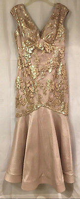 Marina Women's Gown Formal Special Occasion Mermaid Sequin Icy Pink Size 6