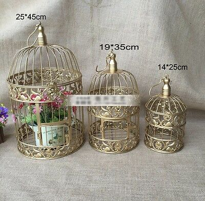 Iron Bird Cage Gold LARGE size 25cm x 45cm High Wedding Centre Piece Decoration