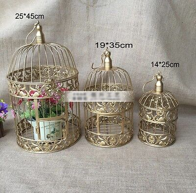 Iron Bird Cage In Gold SMALL size 14cm x 25cm High Wedding Centrepiece