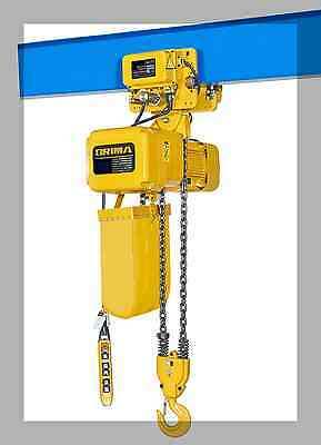Electric Chain Hoist 1T Single Speed With Motorised Trolley