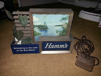 VINTAGE 1950's HAMMS BEER LIGHTED SIGN REFRESHING AS THE LAND OF SKY BLUE WATERS