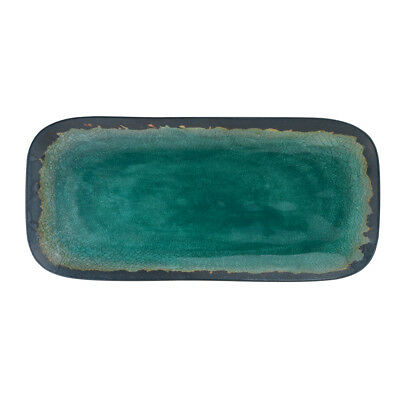 "Merritt International Melamine Turquoise Natural Elements - 15"" Serving Tray"