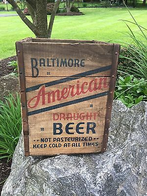 American Beer Brewery Inc 1700 Gay Street Baltimore MD Wood Wooden Crate Box
