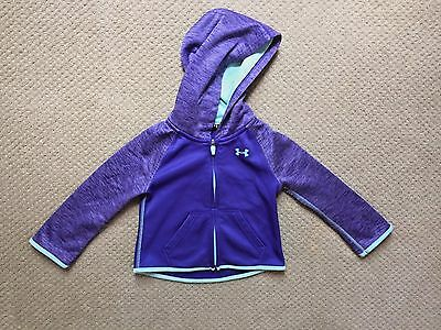 Girls Hooded Under Armour Jacket Size 2T EUC