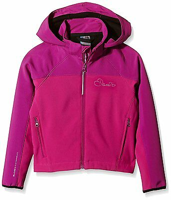 Dare 2b Kids Advocate Softshell Jacket - Electric Pink, 32-Inch
