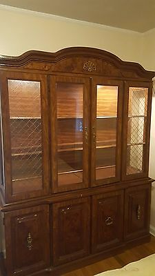 Original redwood China cabinet