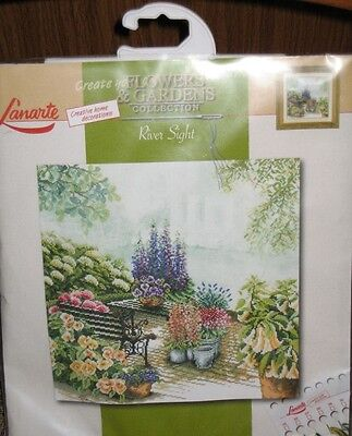Old Lanarte Cross Stitch kit 34766 River Sight  OOP rare Out of Print.