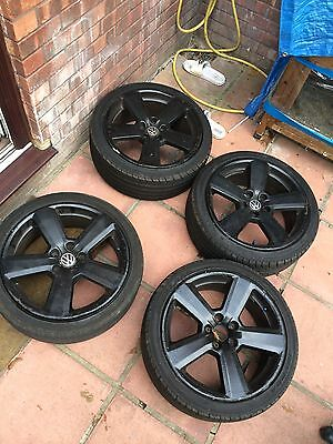 "4 Audi/VW 18 """" Wheels, All With Tyres"