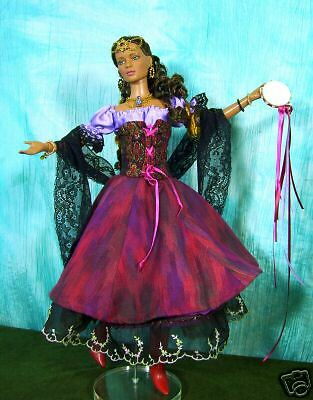 Gypsy/peasant Sewing Pattern For  Dolls With The Tonner Tyler Body