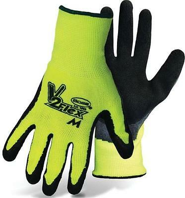 Boss Canada 8412X MENS HIGH VISIBILITY FLEXGRIP LATEX PALM GLOVES SIZE X-LARGE