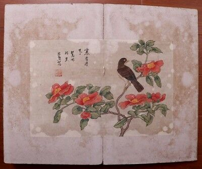 Great Rare Old Chinese Hand Painting Flower And Bird Book Mark ZhangXiong KK475
