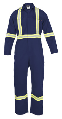 Flame Resistant FR Hi Vis Coverall - Light Weight - 100% Cotton