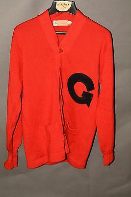 Vintage University of Georgia - UGA - letterman's wool cardigan sz 44