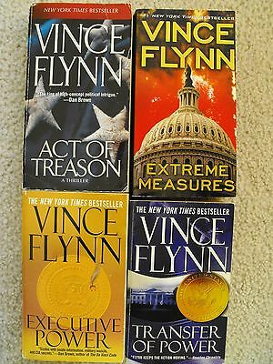 Mitch Rapp Lot of 4 Novels by Vince Flynn : Act of Treason, Extreme Measures +2