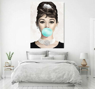 Audrey Hepburn in Breakfast at Tiffany's  Canvas print Home Decor wall  Quality
