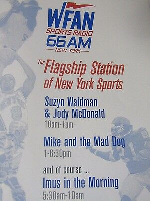 2001 WFAN Imus, Mike And The Mad Dog-Suzyn & McDonald Original Print Ad-9x11""