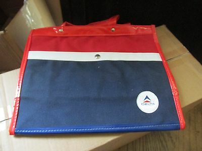Vintage Delta Airlines Tote Carry On Bag Blue Purse Travel red white blue 1976