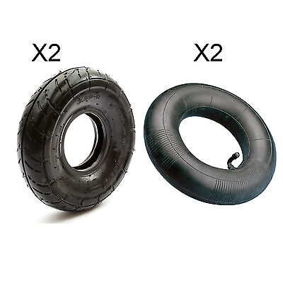 2 Mini Moto Quad Bike ATV Tyre & Inner Tube 3.00 - 4  300-4 Petrolscooter 49cc