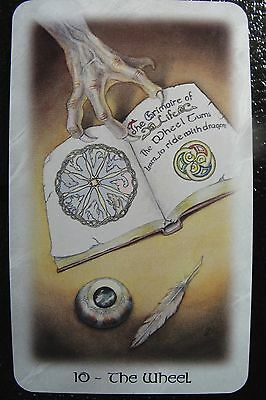 10-The Wheel The Celtic Dragon Tarot Single Replacement Card Excellent
