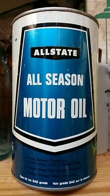 Allstate All Season Motor Oil Imperial Quart Tin Can Simpson Sears Canadian