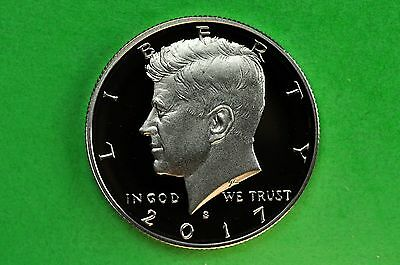 2017-S  Deep Cameo  Kennedy Half Dollar US GEM Proof Coin