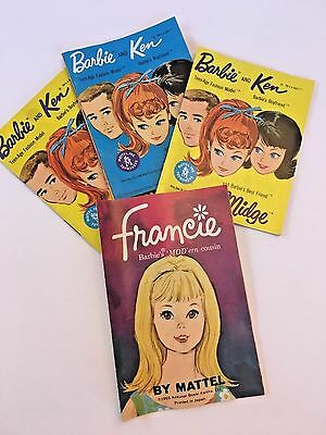 Lot Vintage Barbie Fashion Shop Magazines - 1960s Clothes for Ken, Midge, Barbie