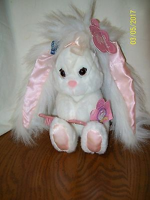 Applause Hare Brush Bunny Rabbit Plush With Brush With Tag