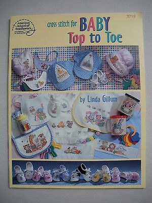 Cross Stitch for Baby - Top to Toe - Linda Gillum - Cross Stitch Pattern Book