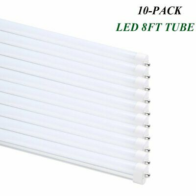 T8 T12 8FT LED Tube Light 40w Single Pin FA8 Lamp 6000K Bright White Milky Cover