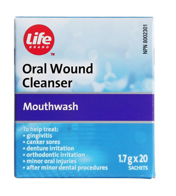 Life Oral Wound Cleanser 1.7g x 20 Sachets Sodium Perborate Monohydrate (Amosan)