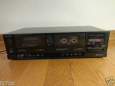 Technics RS-T11 Stereo Dual Cassette Tape Deck Recorder 1989 Japan TESTED 100%