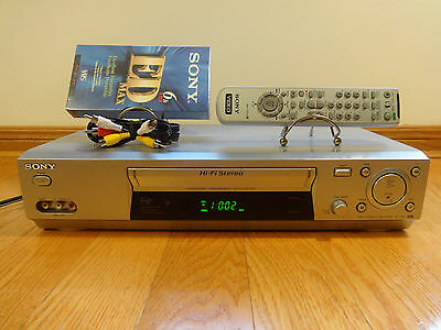 Sony SLV-N88 Hi-Fi Stereo VCR Video Cassette Recorder + Remote RCA TESTED 100%
