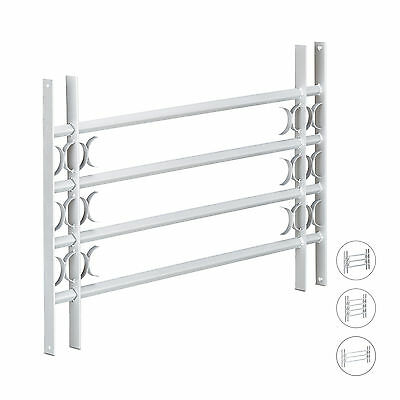 Window Grille, Pull-Out Bars, Galvanized, Security Gate for Windows, Silver