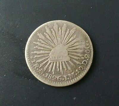 Mexico 1826 1 Real Mo JM Early Date Silver Mexican Coin