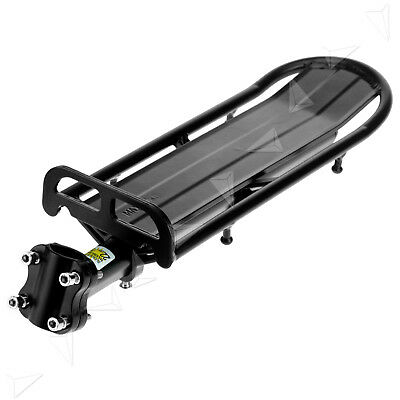 Black MTB Bike Bicycle Cycling Alloy Cargo Carrier Seat Post Rear Cargo Rack