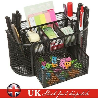Pen Pencils Mesh Holder Stationery Container Desk Tidy Organiser Back To School