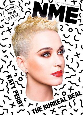 The NEW MUSICAL EXPRESS NME 9 JUNE 2017 Katy Perry Front Cover n.m.e