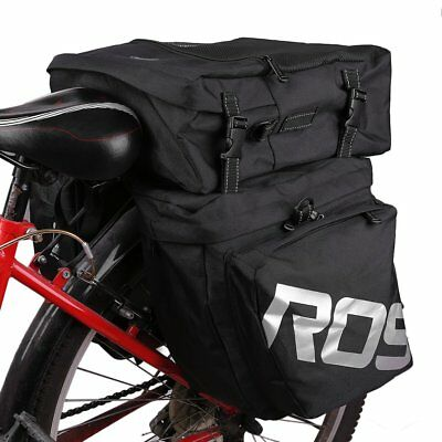Waterproof 600D Bicycle Pannier Rear Seat Bag Bike Cycle Tail Rack Storage Pouch