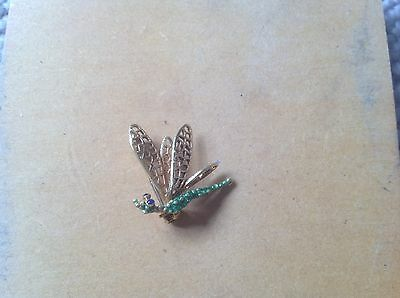 18ct Gold And Enamel Brooch - Hallmarked