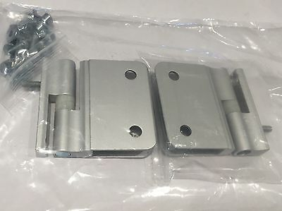 Toilet Cubicle Fittings , Satin Aluminium Rise and  Fall Toilet Cubicle Hinge