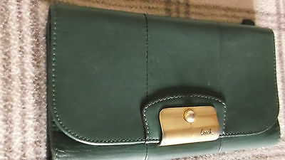 Vintage Coach green leather ladies wallet purse card holder vgc