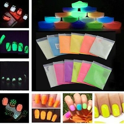 10g Hot Fluorescent Super Bright Glow in the Dark Powder Glow Pigment DIY