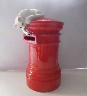 Very Rare Beswick - Cat On Pillar Box, Money Box Model Number 2805 - Perfect !!