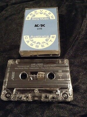 Ac/dc Live Cassette Tape Preview Radio Sample Promo Australia Albert Productions