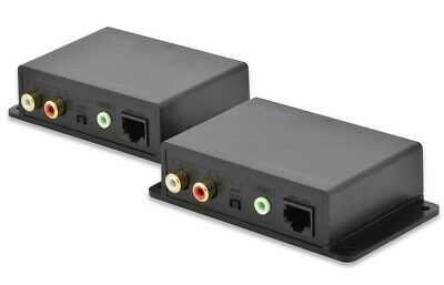 Digitus DS-56100 Audio Extender 600m Cat5 Cinch od Stereo Ausgang remote Einheit