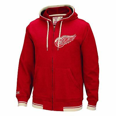 Adults Small Detroit Red Wings CCM Fashion Fleece Full Zip Hoodie M20